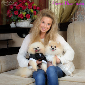 Monica Macho & puppies